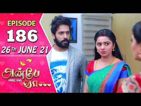 Anbe Vaa Serial | Episode 186 | 26th June 2021 | Virat | Delna Davis | Saregama TV Shows Tamil