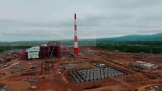 Будівництво ТЕЦ в Радянській Гавані. Аерозйомка
