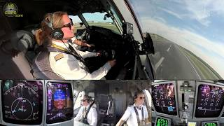LADY POWER! Heavy MD-11F Cargo Plane piloted by Claudia & Inge, Frankfurt to Mumbai!!! [AirClips]