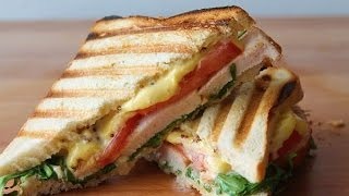 Hähnchen SandwichPanini (Rezept)  Chicken Sandwich (Recipe)  ENG SUBS