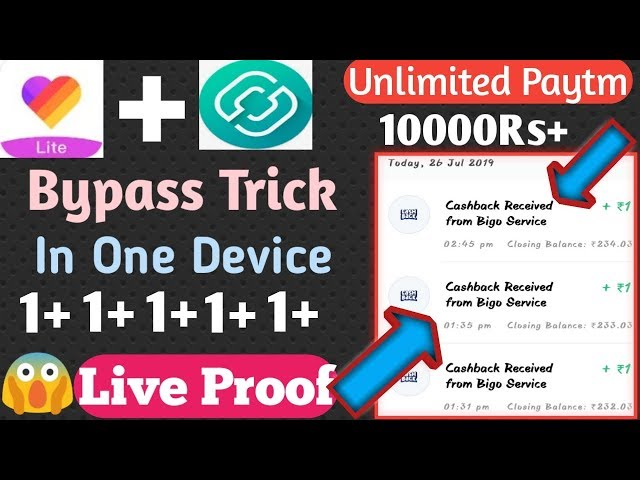 😱😱 Likee Lite App Bypass Trick || Add 1Rs Unlimited Times
