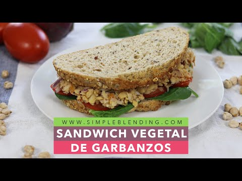 Sandwich de garbanzos   Bocadillo vegetal   Cena saludable