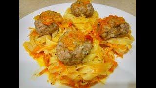 Вкуснятина на Ужин - Гнезда с Фаршем на Сковороде/Быстрый Ужин из Макарон и Фарша за 30 Минут
