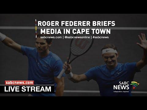 Roger Federer Arrives In Cape Town Youtube