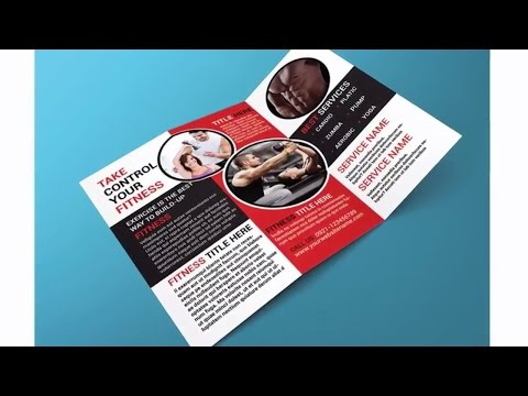 Indesign Tutorial Creating Trifold Brochure In Adobe Indesign And Mockup In Adobe Oshop