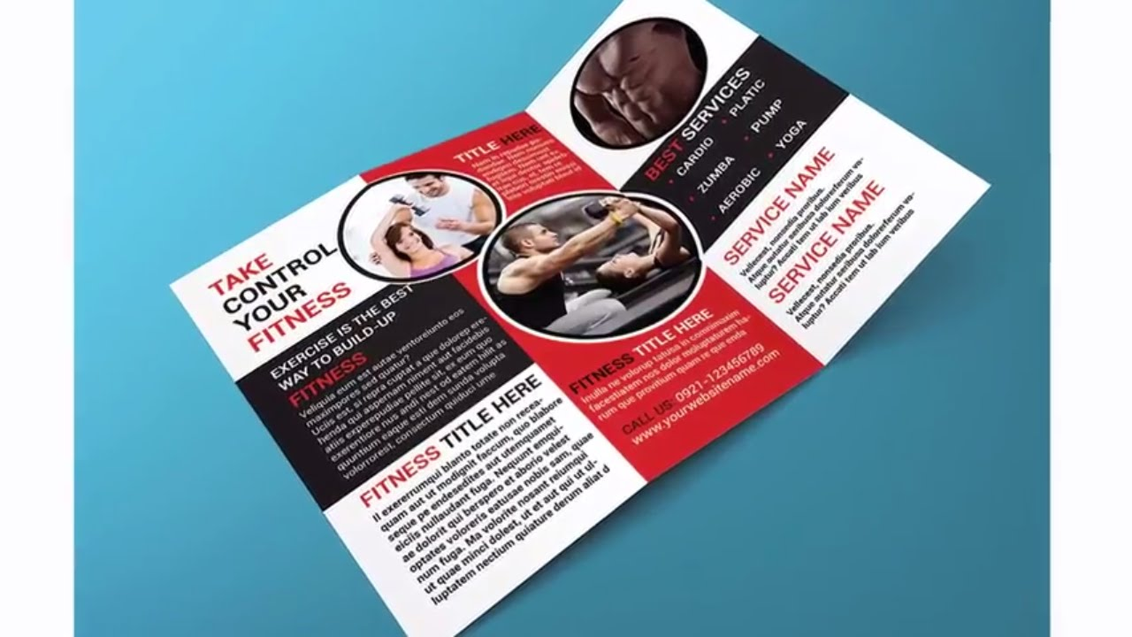 Indesign Tutorial Creating A Trifold Brochure In Adobe Indesign And Mockup In Adobe Photoshop