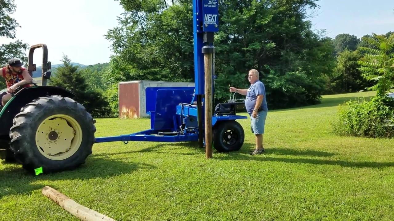 next generation fence post driver trailer model