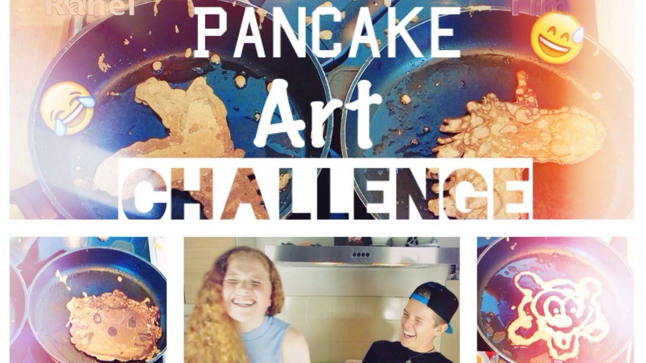 Pancake Art Challenge : PANCAKE ART CHALLENGE ?? + Outtakes :D ?Wir sind 4000 ...