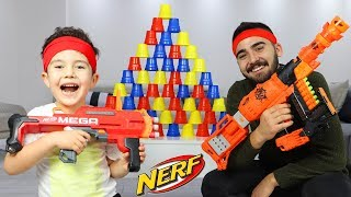 Yusuf and Uncle play Nerf Toys