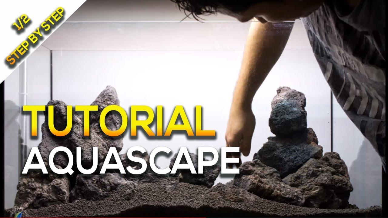 Tutorial Aquascape Nature Aquarium Tank Step By Step By Giuseppe Nisi Youtube