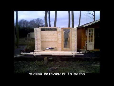 10ftx8ft Chinese Style Log Cabin