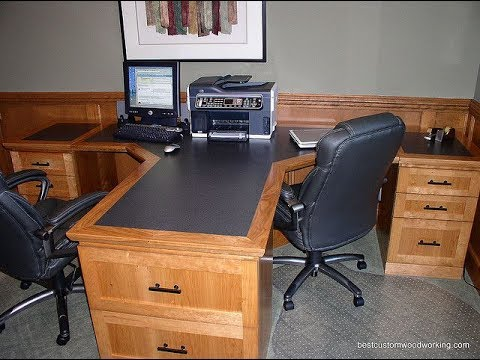 2 person computer desk youtube. Black Bedroom Furniture Sets. Home Design Ideas