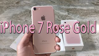 iPhone 7 Rose Gold Unboxing & First Look
