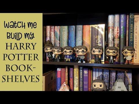 Building my Harry Potter Bookshelves | Shelfie | Harry Potter Bookshelf Tour