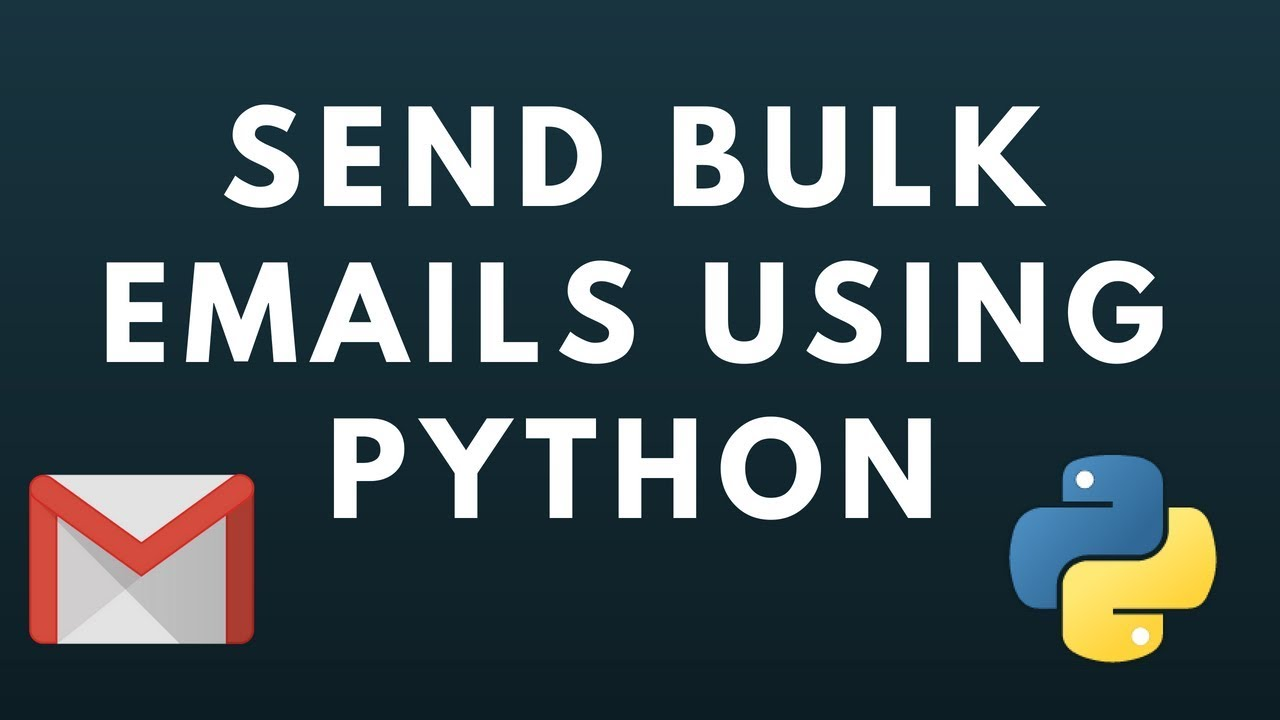 How to send mass emails in python | Bulk email sender
