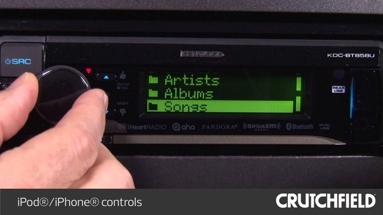 Kenwood Kdc Bt858u Display And Controls Demo Crutchfield Video X595 Wiring Diagram
