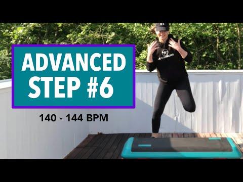 FUN & FAST ADVANCED STEP AEROBICS WORKOUT #6 (60 MIN) 140 144 BPM