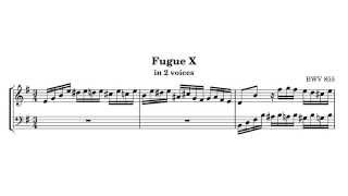 J.S. Bach, The Well-Tempered Clavier, Book I, Fugue No 10 in E minor, BWV 855
