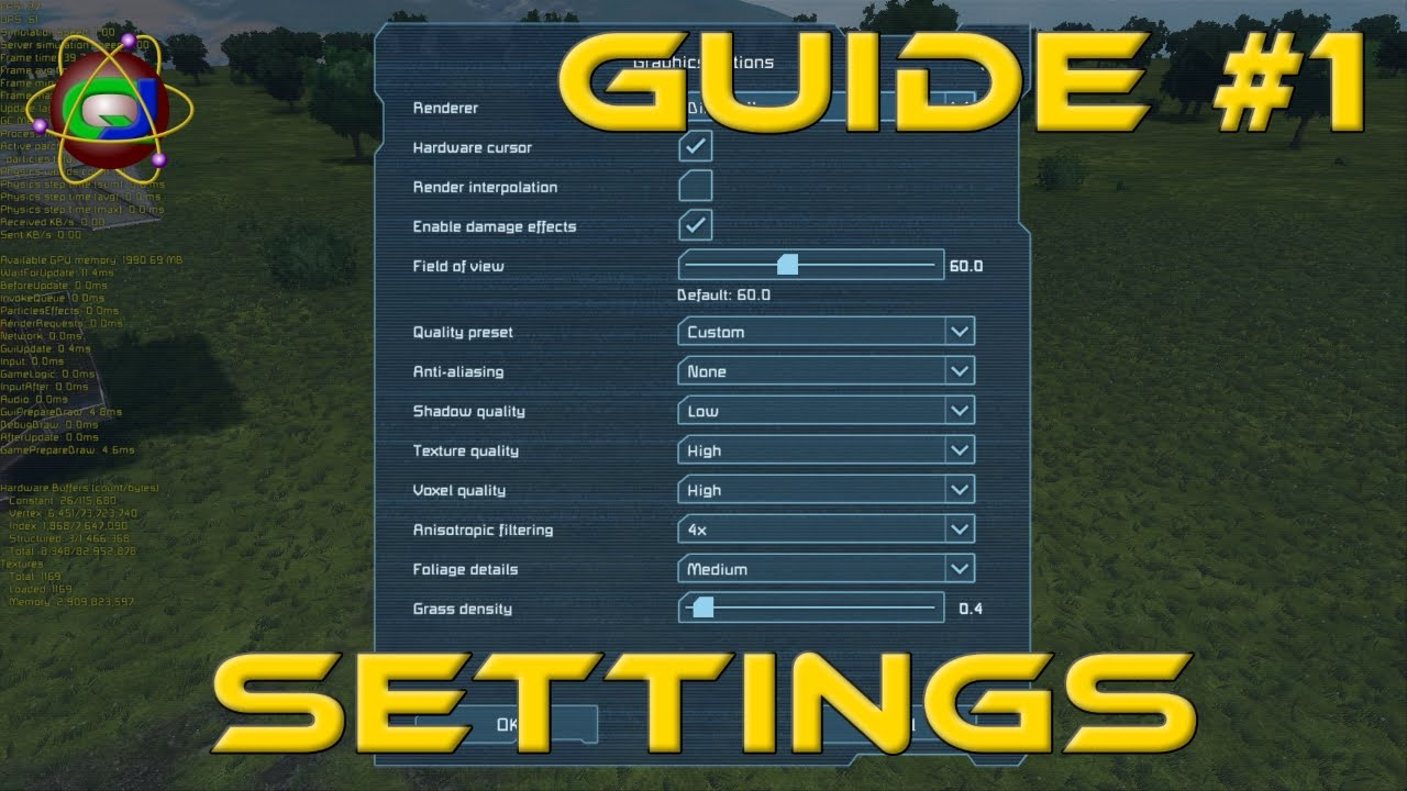Space Engineers - Settings Guide - Low End to Mid Range Computer