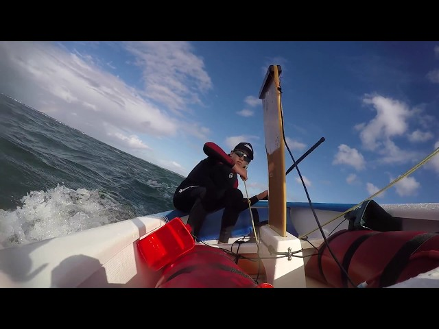 Sailing An Optimist Downwind - 'Kiting' An Opti With Fletcher