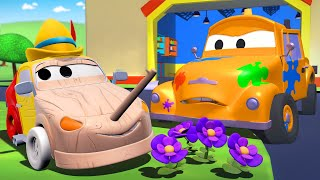 Bebek Matt Pinokyo - Tomun boya dükkanı araba şehrinde 🎨 Çocuklar için çizgi filmler