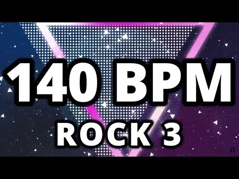 140 BPM - Rock 3 - 4/4 Drum Track - Metronome - Drum Beat