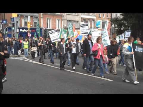 Anti- Coca-Cola, Lisbon Treaty and NAMA Protest, Dublin, Ireland 19 September 2009
