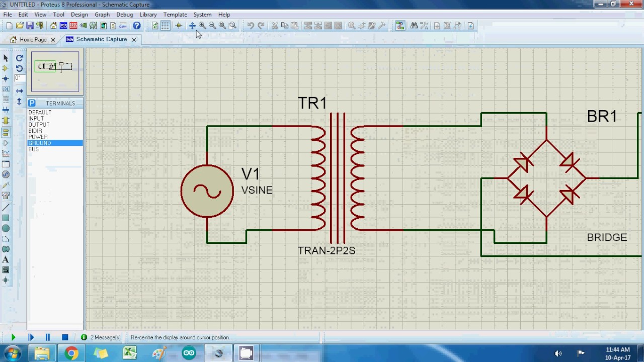 5 Volt Dc Output Proteus Circuit Simulation Very Simple Youtube Power Supply Schematic