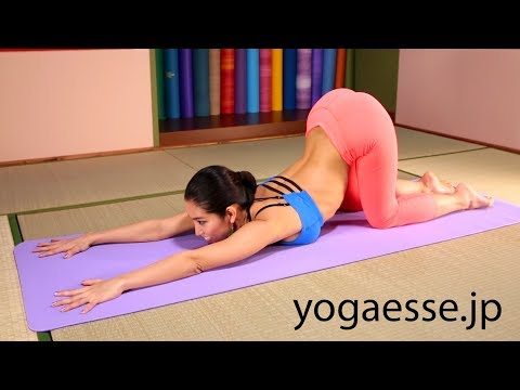 Extended puppy pose | Yoga for Beginners with Waka Yogi ~ヨガ初心者