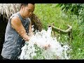 Primitive Skills: Upgrading irrigation systems, water supply by pipe bamboo (new water line)
