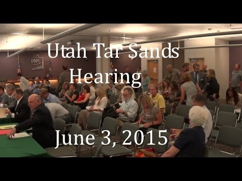 Utah citizens at June 30, 2015 Tar Sands hearing.