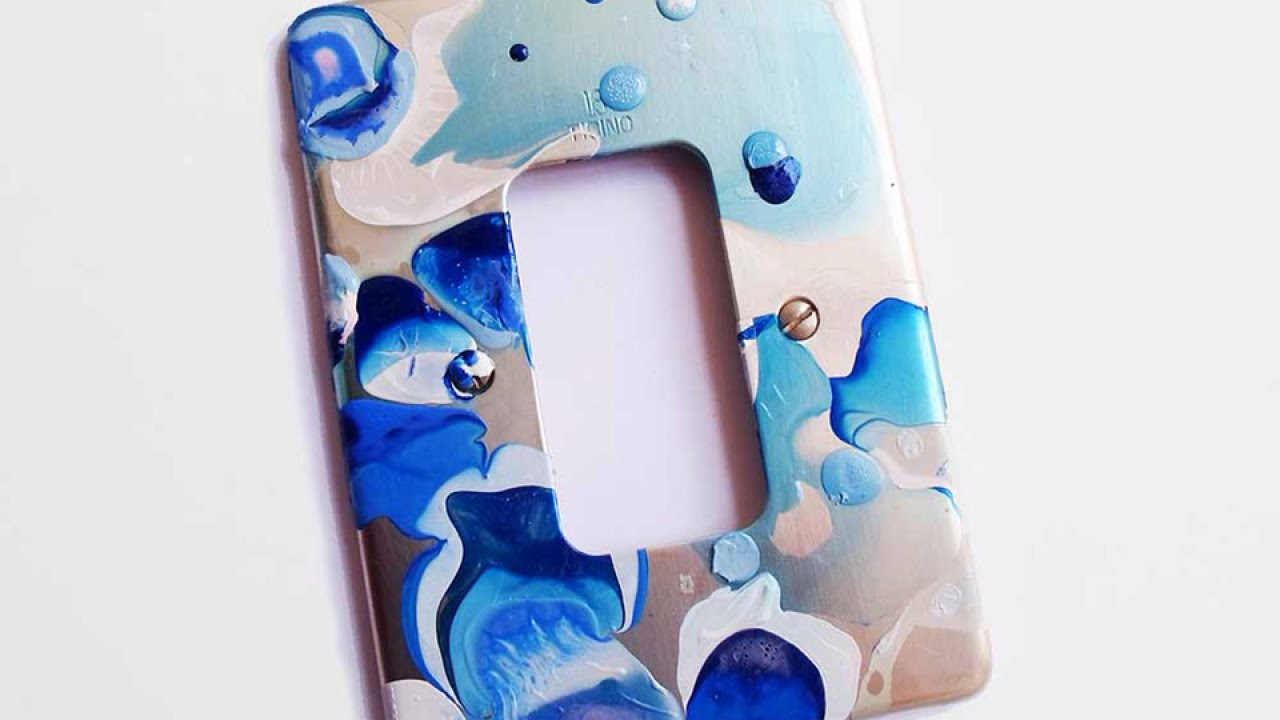 Make A Water Marble Design Light Switch Cover Home Guidecentral You