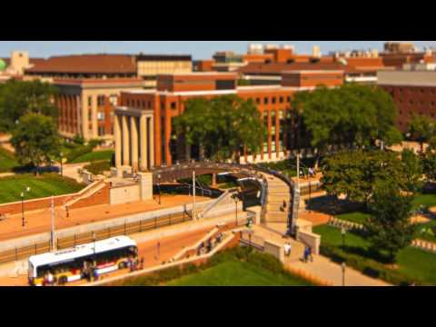 Day in the Life at the University of Minnesota (tilt shift time lapse)
