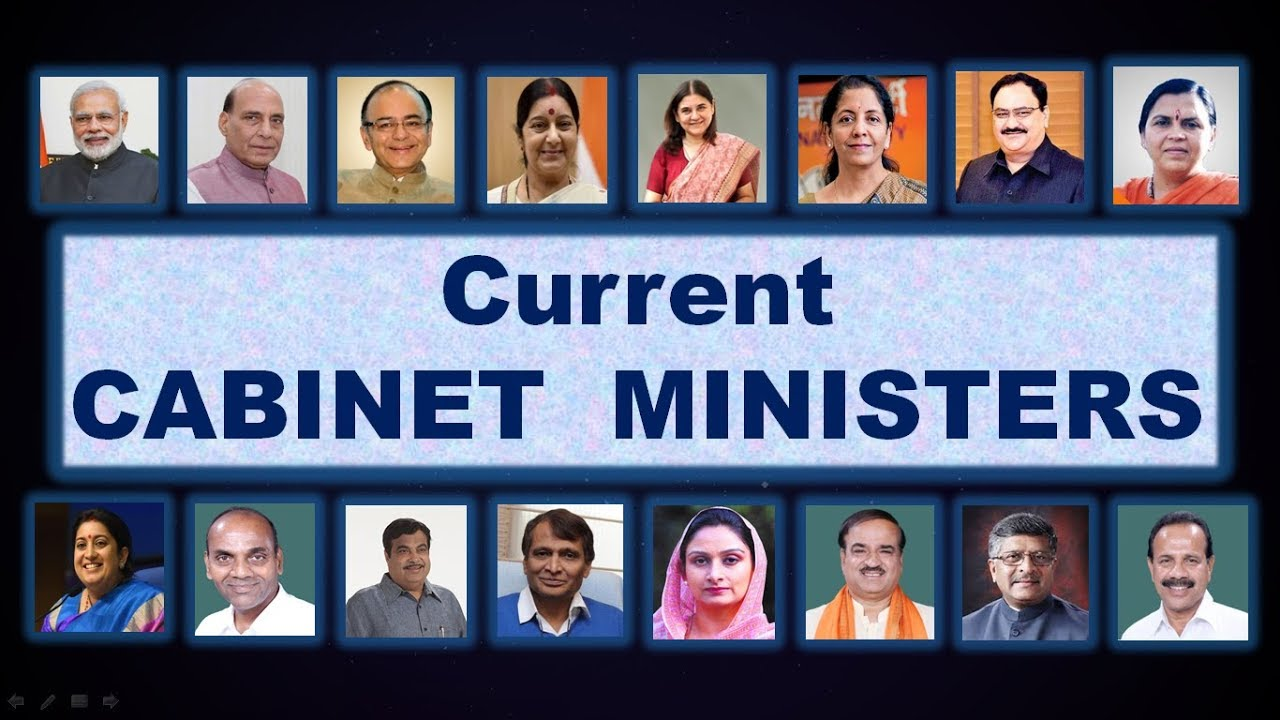 Current CABINET MINISTERS of INDIA 2018 in Bengali UPDATED ...
