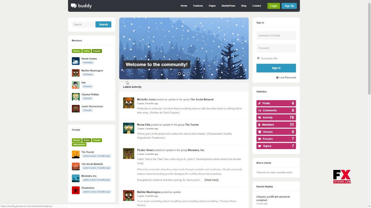Buddy: Simple WordPress and BuddyPress Theme Brooks Thomas