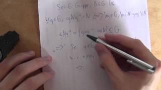 Mathematik - Gruppentheorie - Eigenschaften des Normalteilers (auch für Kinder geeignet)
