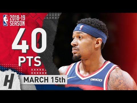 Bradley Beal Full Highlights Wizards vs Hornets 2019.03.15 - 40 Pts, 5 Reb, 5 Ast!
