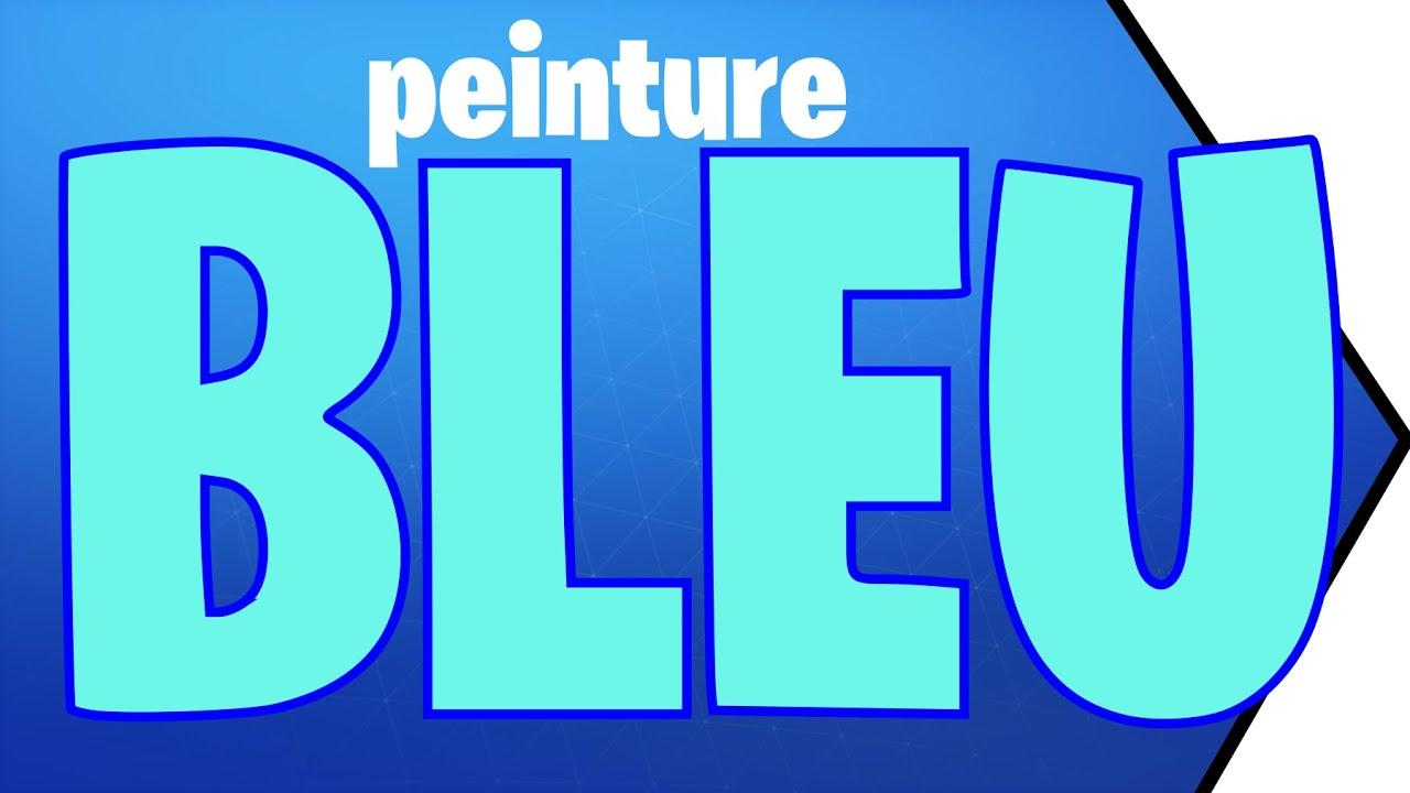 comment faire du bleu en peinture - YouTube