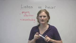 English Vocabulary - Listen & Hear - What's the difference?