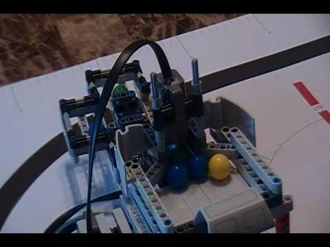 LEGO MINDSTORM color sorter program - YouTube