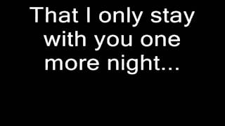 Boyce Avenue - One more night lyrics (Maroon 5 Cover)