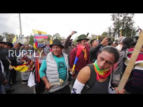 Ecuador: Indigenous protesters rally against Moreno's economic package