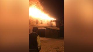 Пожар на Полевой в Тюмени