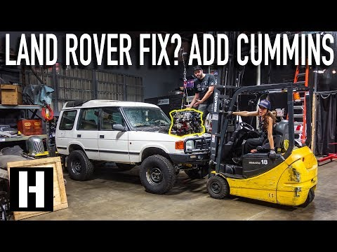 Cummins R2.8 Turbo Diesel is IN! Scotto's Land Rover = Instantly More Reliable