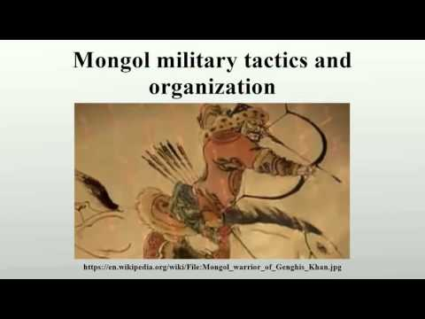 Mongol military tactics and organization