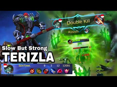 SLOW But STRONG New Hero [TERIZLA] First Gameplay - Mobile legend Bang Bang thumbnail