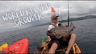 WORLD RECORD Broomtail Grouper | Kayak Fishing Panama