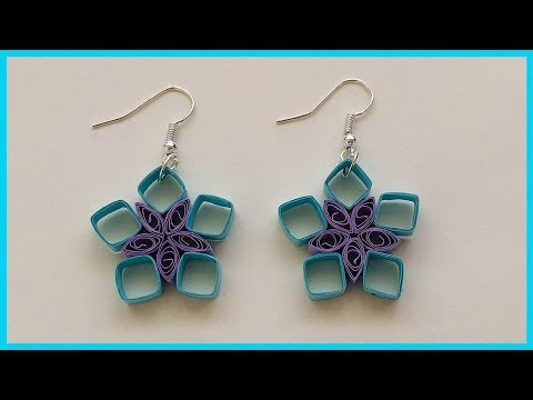 How To Make Paper Quilling Earrings At Home / Paper Quilling Earrings Tutorial