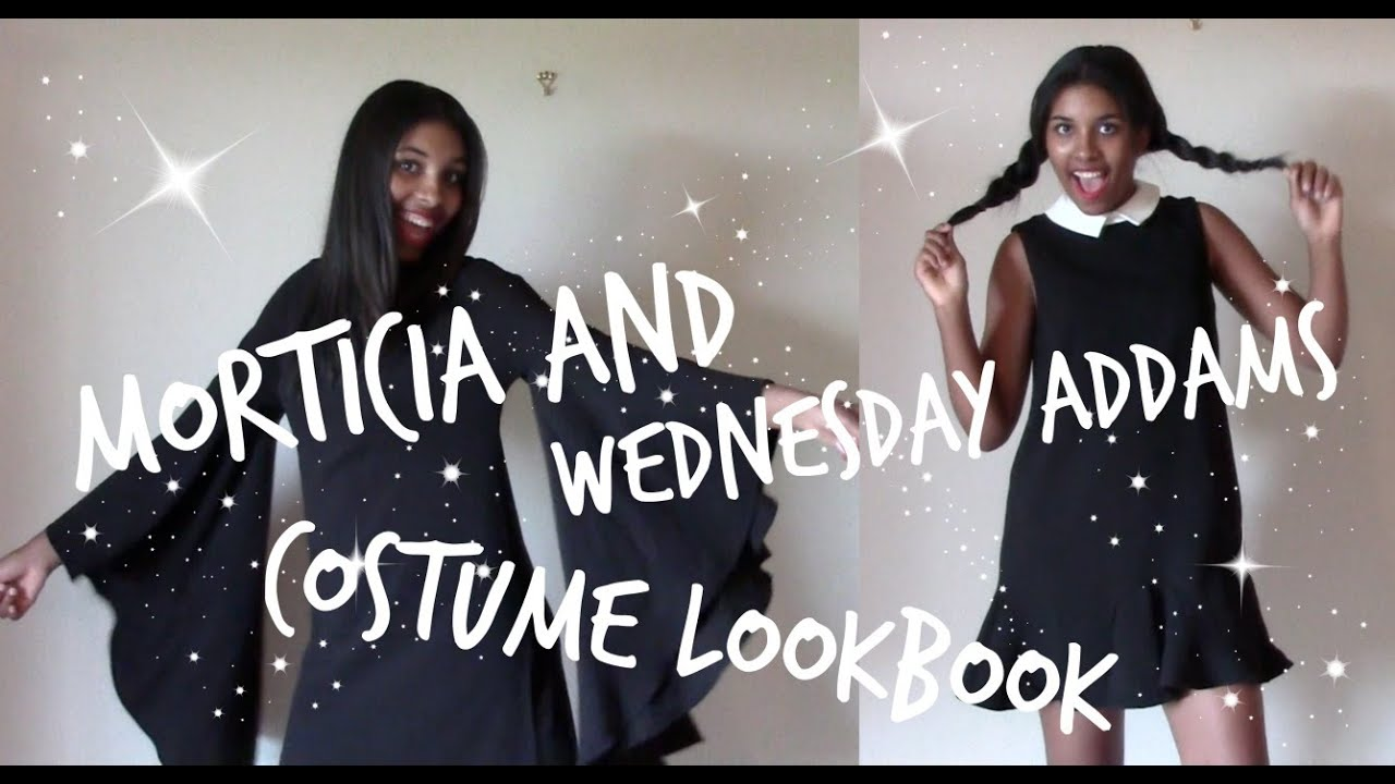 My Spin On Wednesday And Morticia Addams Costumes Lookbook Youtube