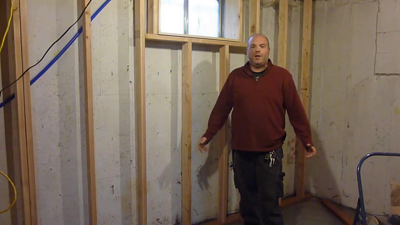 FINISH FRAMING WINDOW FRAME (BASEMENT KITCHEN ) & FINISH FRAMING WINDOW FRAME (BASEMENT KITCHEN ) - YouTube